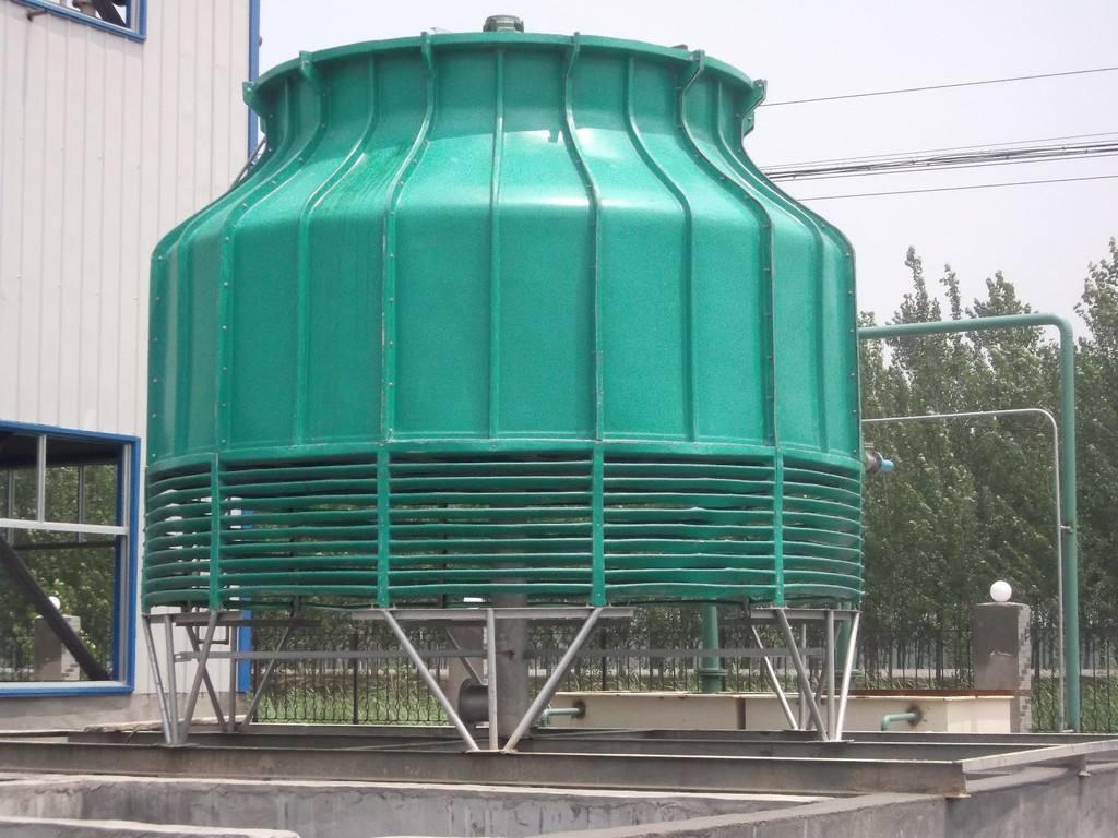圆形冷却塔-优良逆流式玻璃钢冷却塔就选唐山科力空调