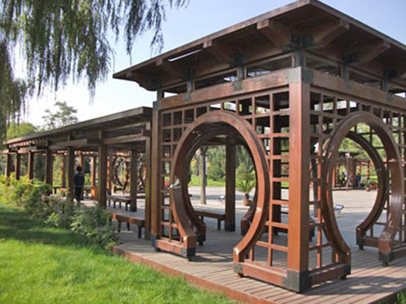 如需优质防腐木 凉亭花架 阳台护栏就找上海颖双