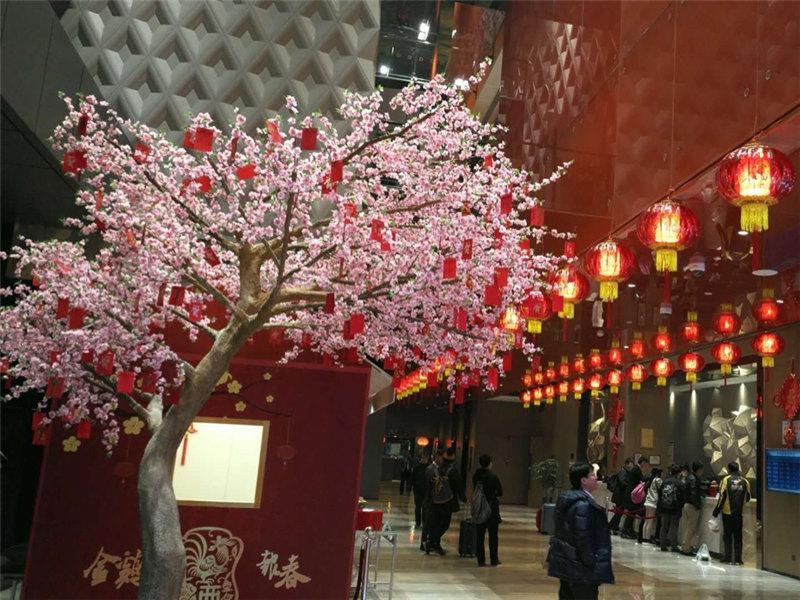 仿真桃花哪家好_廣州市盛庭供應實惠的仿真桃花樹
