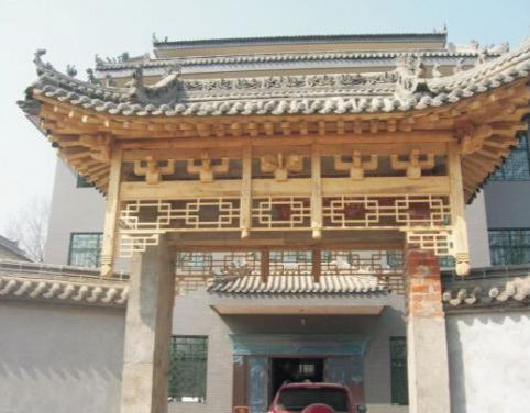 北京市承接防腐木门楼工程哪家口碑好的,黑龙江木门楼