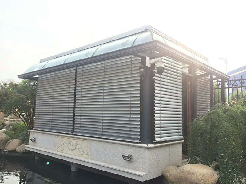 浙江室外遮阳天幕安装|上海销量好的户外遮阳百叶批发