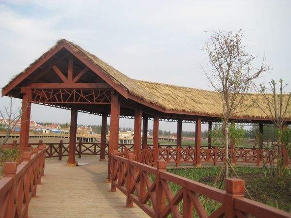 昌富亿达钢木结构提供的长廊怎么样,海口防腐木