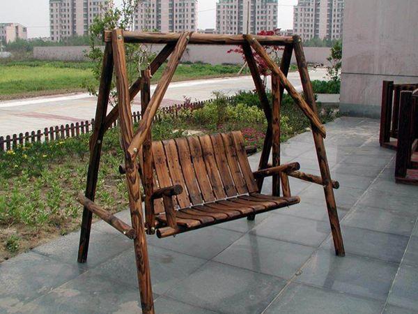 昌富亿达钢木结构优质的防腐木秋千新品上市——海口防腐木