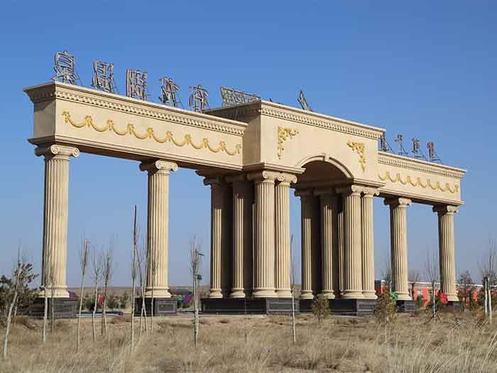 陕西GRC构件供应商-宁夏启源达古建筑好用的宁夏GRC构件新品上市
