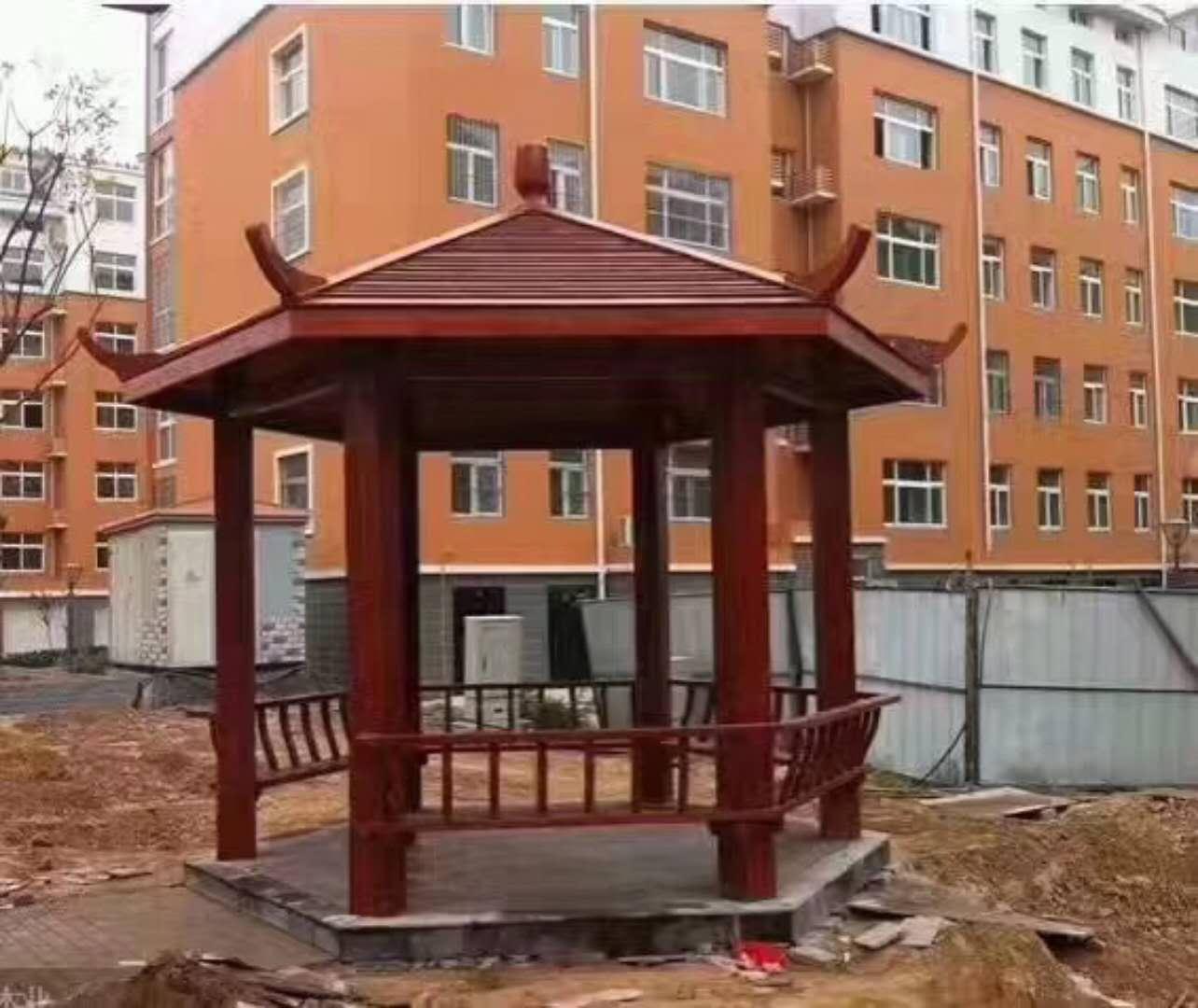 耐用的防腐木凉亭昌富亿达钢木结构供应|防腐木业