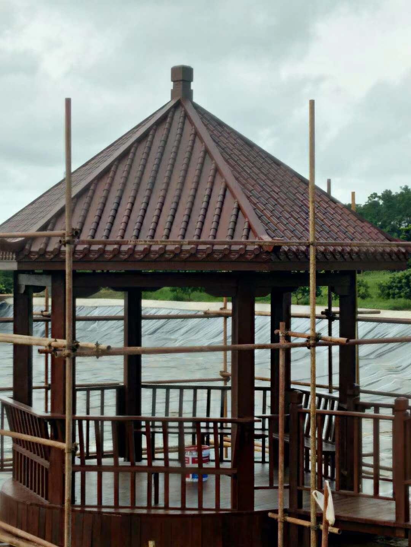 海口防腐木,高质量的防腐木凉亭尽在昌富亿达钢木结构