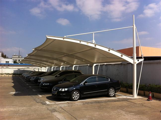 桂林膜结构车棚_膜结构停车棚造价