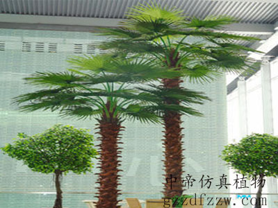 广州仿真海枣树哪里有供应_高仿真植物海枣树制作公司