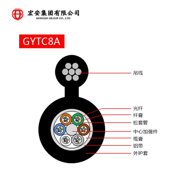 宏安集团出售好用的GYTC8A光缆 自承式光缆厂家