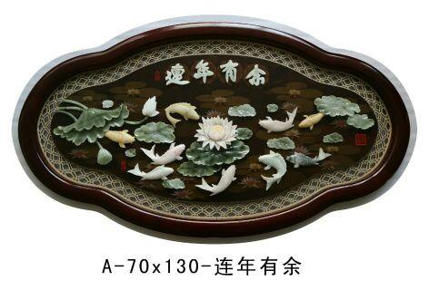 營口玉石壁畫-買玉石壁畫就來岫巖圣元玉雕商店