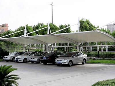 宁夏膜结构停车棚-购买膜结构停车棚就来宏盛膜结构