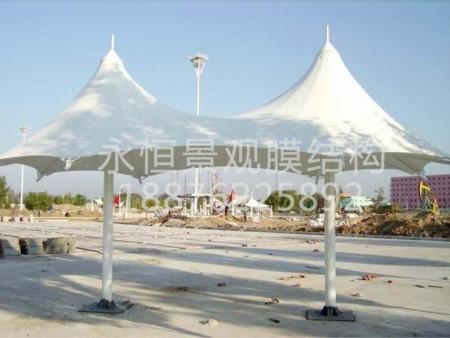 景观膜结构厂家永恒停车棚更专业 永春景观膜结构