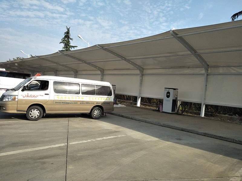 天津膜結構車棚生產廠家-質量好的膜結構車棚生產廠家在哪里