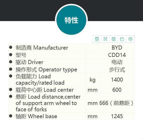 阿壩鋰電車電動叉車 亞迪新源提供劃算的S14JW 1.4噸電動堆垛車