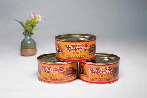 玉林知名的广西玉林特产零食牛肉脯 陆宝牛巴152g供应商-陆川土猪代理商