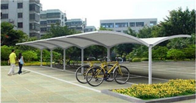 江苏新品膜结构自行车棚供应出售-选购膜结构自行车棚