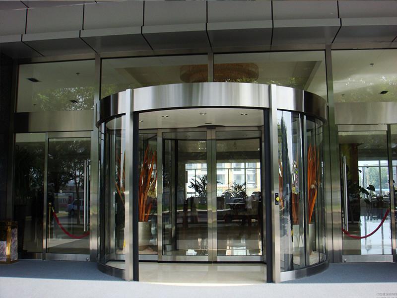 北京嘉圣博_质量好的两翼旋转门提供商 钛金镜面两翼旋转门安装公司