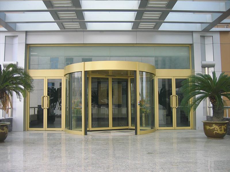 北京市好的两翼旋转门供应|本色拉丝两翼旋转门