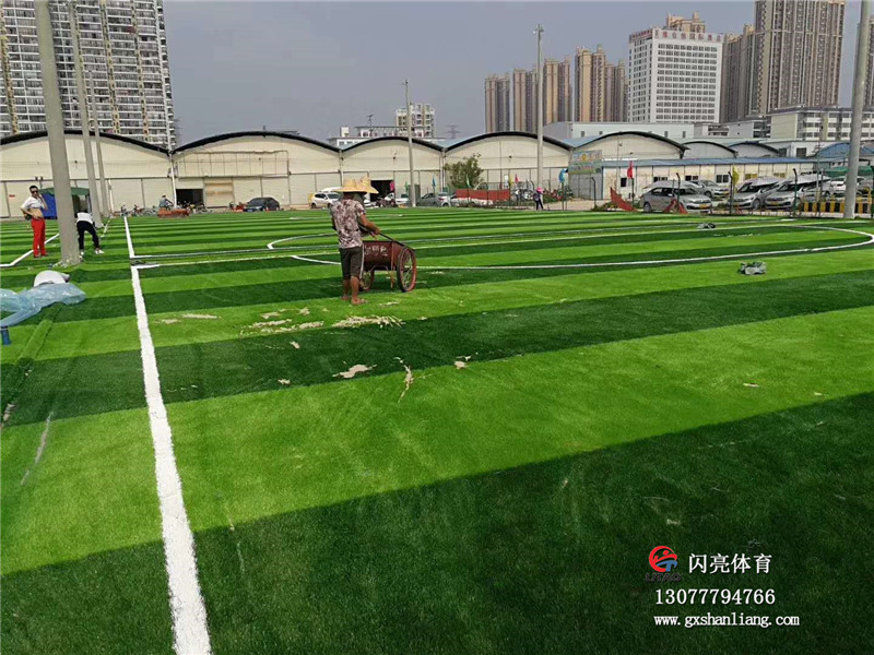 河池人造草坪施工厂家_广西闪亮体育用品供应性价比高的广西人造草坪