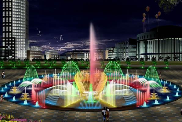 兰州喷泉工程|甘肃音乐喷泉|兰州广场喷泉设计|兰州喷泉设计