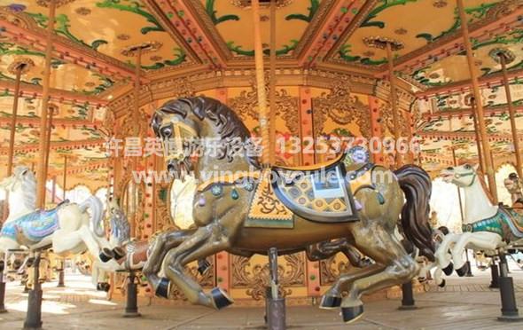 北京豪华转马游乐设备 英博游乐旋转木马游乐设备专业品质