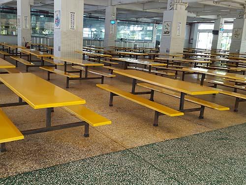 玻璃圓凳餐桌_東莞物超所值的食堂餐桌椅供銷