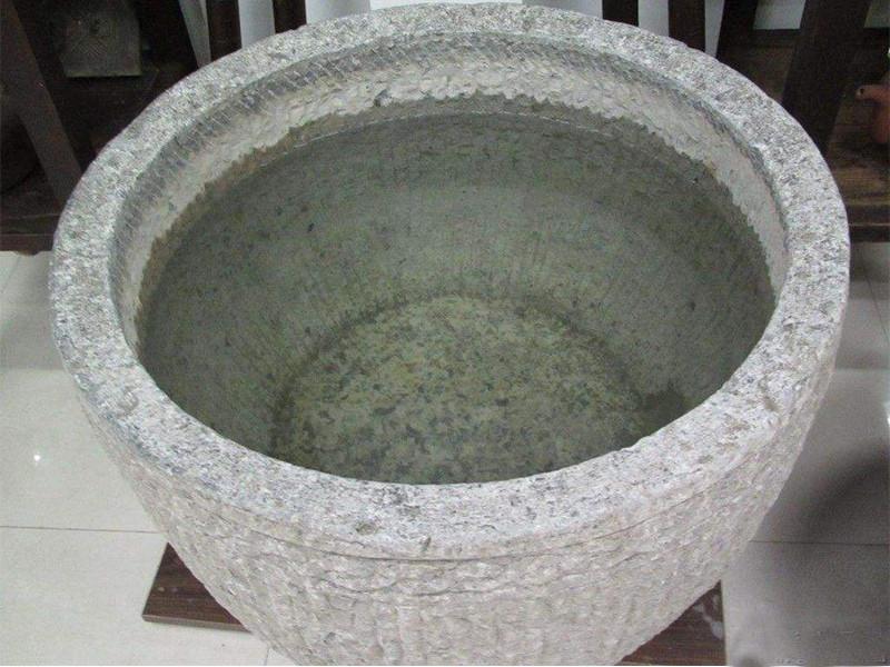 汉白玉石雕水缸-买石雕鱼缸就到红泰石业