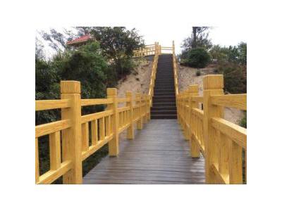 甘肃河道护栏|仿木护栏