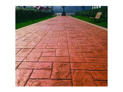 西宁压花材料_兰州地区实惠的彩色仿石压花路面