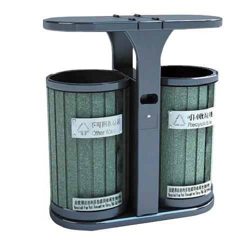 上海市知名的垃圾桶供应商 钢木垃圾桶采购