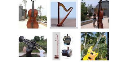 金桥电器厂销量好的音乐雕塑出售-音乐雕塑安装