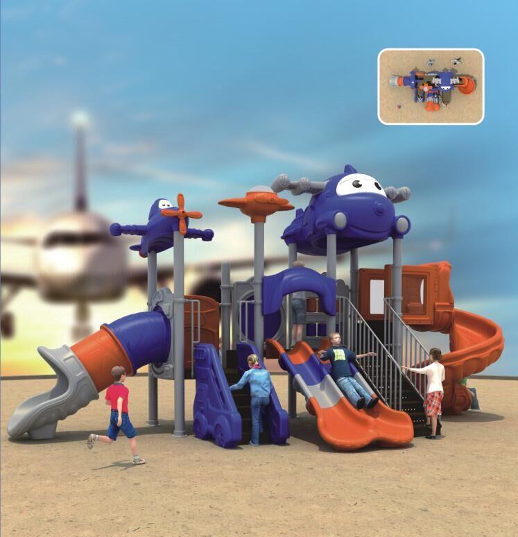 大型儿童户外游乐设备淘气堡组合滑梯梦幻飞机