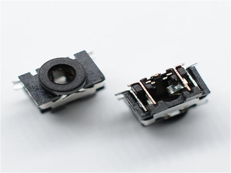 销量好的耳机插座生产厂家 镀银贴片七脚带柱音频插座