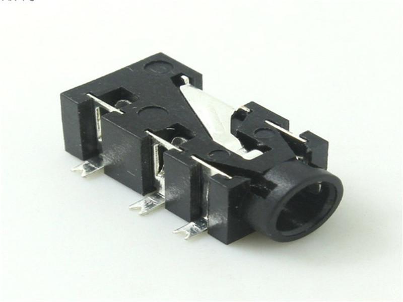 供应时晟电子质量优良的耳机插座,3.5SMT5脚耳机插座