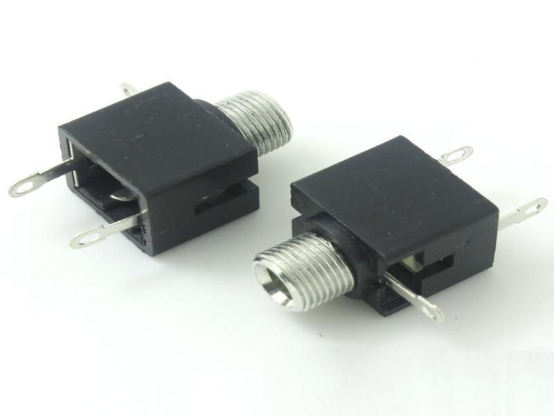 3.5插件耳机插座带螺母|供应时晟电子专业的耳机插座