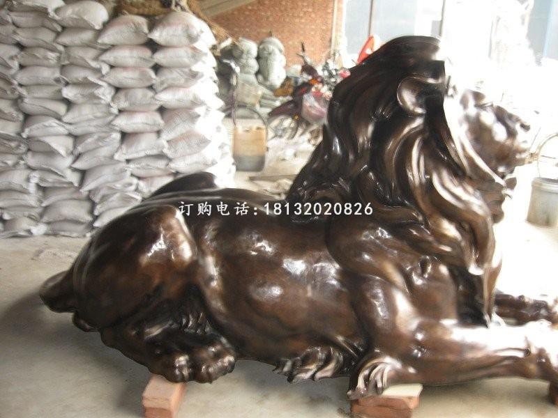 卓景雕塑西洋狮子铜雕铸造工艺精湛——榆林