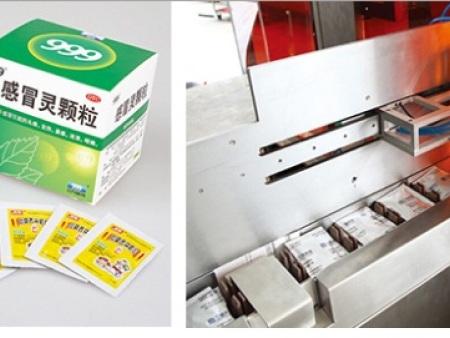 高能袋装包装生产线 高性价颗粒袋上开盖装盒包装生产线供销