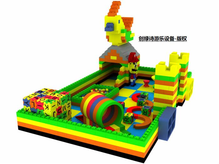 epp室内儿童乐园_想要优良的epp积木儿童乐园加盟就找浙江创绿诗游乐设备