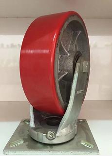 超重型自動化設備腳輪-東莞品牌好的超重型10寸活動鐵芯聚氨酯腳輪雙軸承批售