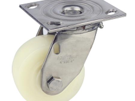 尼龙竞博JBO|首页如何-广东重型4寸万向不锈钢白玉尼龙轮专业供应