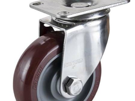 聚氨酯竞博JBO|首页厂商代理-大量供应有品质的中型4寸万向不锈钢聚氨酯PU轮