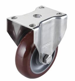供应广东超值的中型4寸万向不锈钢聚氨酯PU轮,直销聚氨酯竞博JBO|首页