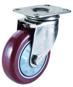 划算的中型4寸万向不锈钢聚氨酯PU轮推荐-直销中型4寸万向不锈钢聚氨酯PU轮