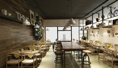 重庆自助餐厅美陈设计|重庆市餐饮设计公司哪家专业