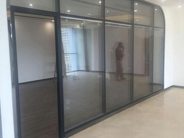 玻璃隔断,办公隔断,铝合金玻璃隔断,廊坊美泰装饰
