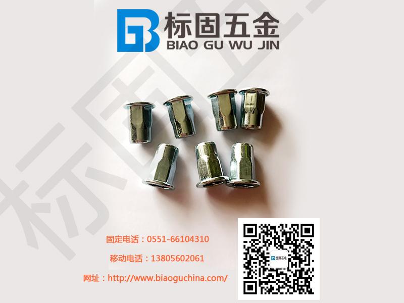 拉铆螺母价格-安徽高性价平头内外六角铆螺母供应
