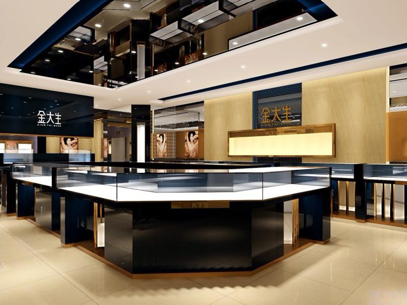 黄金玉器柜台品牌-品牌珠宝展示柜厂家_亚南展览