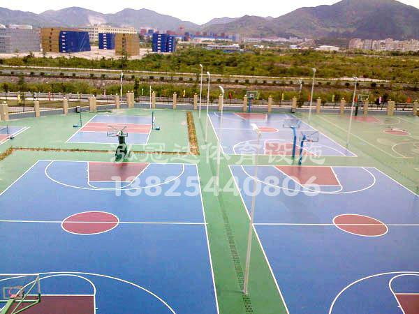广州塑胶篮球场铺设,塑胶跑道价格-惠州市泓冠达体育设施有限公