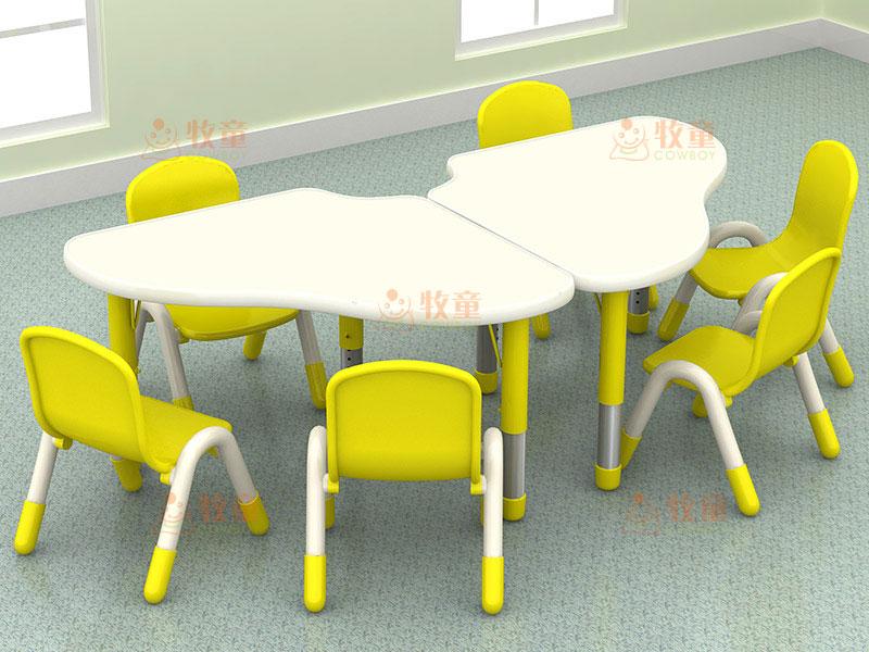 幼儿园塑料课桌椅_[广东牧童实业]幼儿园塑料桌椅_品质保证