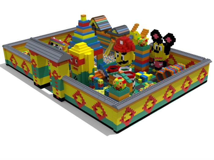 室内儿童积木乐园-买积木乐园就来浙江创绿诗游乐设备